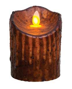 Mustard Flicker Flame Battery Candle - 4 inch