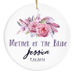Mother of the Bride Ornament with Peonies