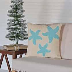 Three Starfish Pillow (18x18)