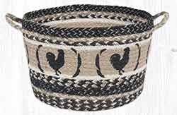 UBP 9-93 Rooster Feathers Large Utility Basket