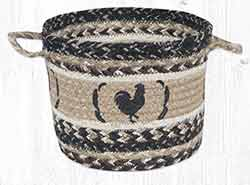UBP 9-93 Rooster Feathers Medium Utility Basket