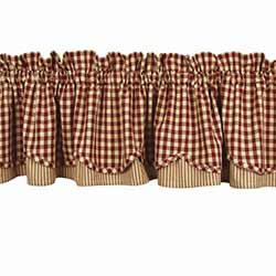 Heritage House Check Red Fairfield Valance