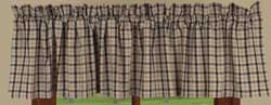 Salem Check Black Valance