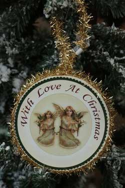 Angel Round Ornament