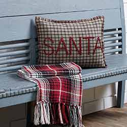 Weston Button Santa Pillow (14x18)