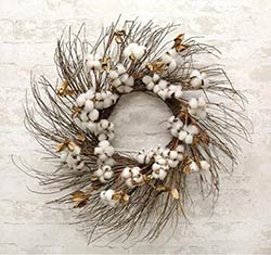 Cotton & Twig 24 inch Wreath