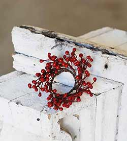 Red Berry 1.5 inch Candle Ring