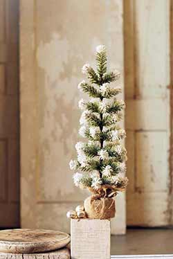 Snow Tipped Pine Tree - 18 inch