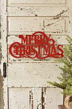 Merry Christmas Metal Sign
