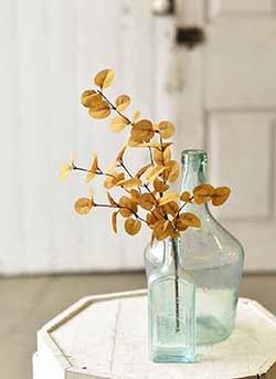 Mustard Penny Leaf Floral Pick