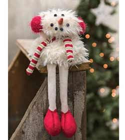 Furry Snowman with Long Legs