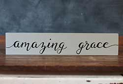 Amazing Grace Wood Sign (Custom Color)