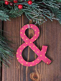 Ampersand Ornament
