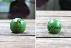 Emotion Peg Doll - Green / Nervous