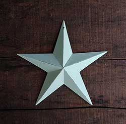 Beach Glass Blue Barn Star (Multiple Size Options)