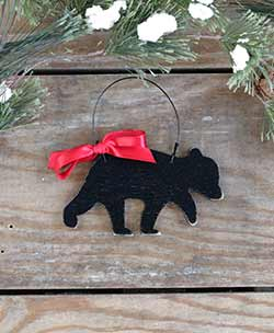 Baby Black Bear Personalized Ornament