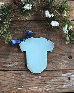 Baby Bodysuit Ornament - Blue