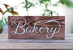 Retro Bakery Hand Lettered Wood Sign