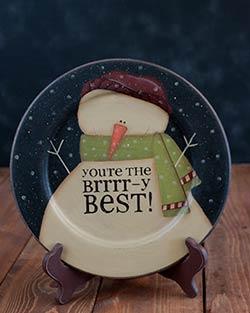 Brrrr-y Snowman Plate
