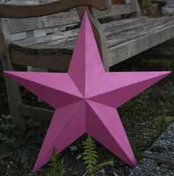 Pink Barn Star, 24 inch