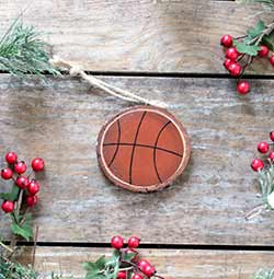 Basketball Wood Slice Ornament (Personalized)