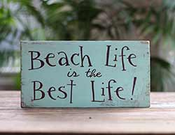 Beach Life Wood Sign