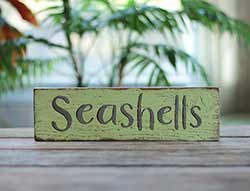 Seashells Wood Sign