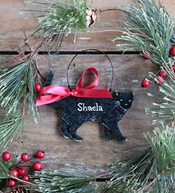 Cat Personalized Ornament - Black