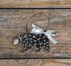 Modern Bear Personalized Ornament