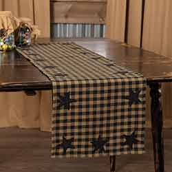 Black Star 48 inch Table Runner