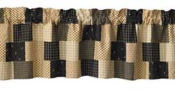 Peppermill Lined Patch Valance