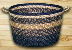 Light Blue, Dark Blue, & Mustard Utility Basket