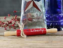 Red Liberty Mini Rolling Pin