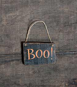 Boo Sign Ornament - Black