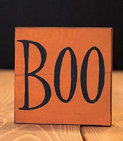 Boo Shelf Sitter Sign
