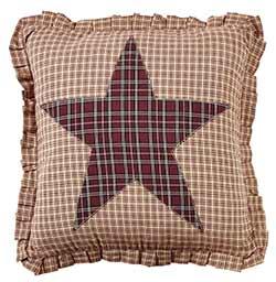 Bradford Star Applique Fabric Pillow Cover