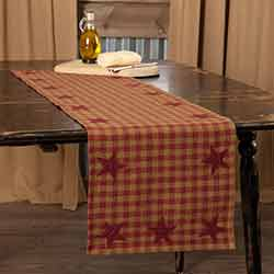 Burgundy Star 48 inch Table Runner