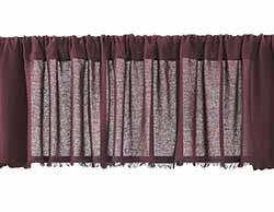 Tobacco Cloth Valance - Merlot (90 inch)
