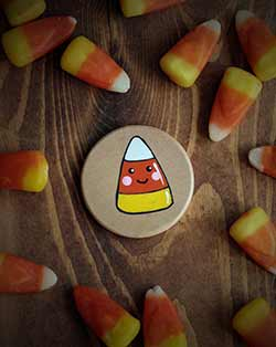 Candy Corn Magnet or Pin