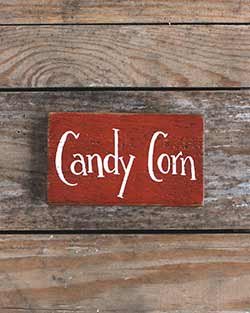 Candy Corn Wood Sign