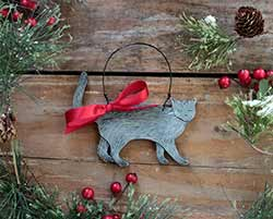 Cat Personalized Ornament - Gray