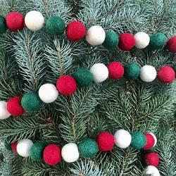 Christmas Felt Ball Garland