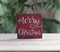 Merry Christmas Shelf Sitter Sign