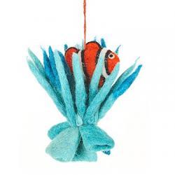 Clownfish in Coral Ornament