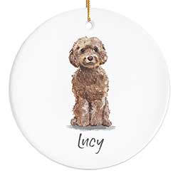 Cockapoo Personalized Ornament - Brown