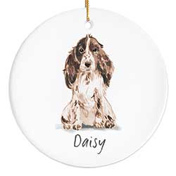 Cocker Spaniel Personalized Ornament - Brown