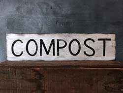 Compost Rustic Wood Sign