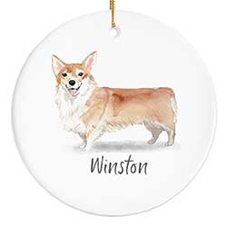 Corgi Personalized Ornament