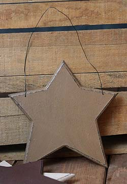 Wood Star Ornament - Mustard