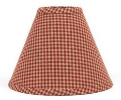 Newbury Red Gingham Lamp Shade - 10 inch